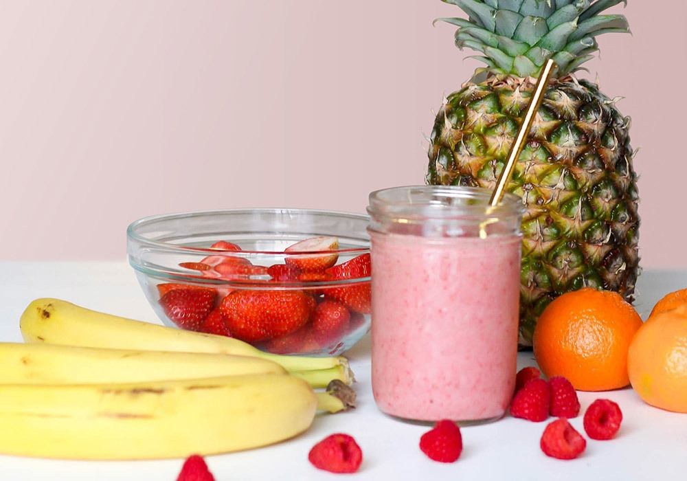 Smoothie de fruits frais mixés